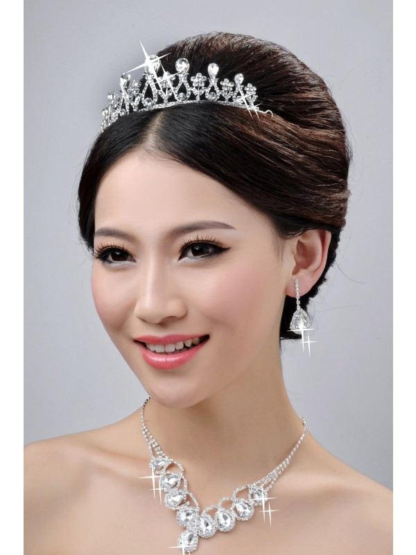 Charming Wedding Headpieces Necklaces Earrings Set