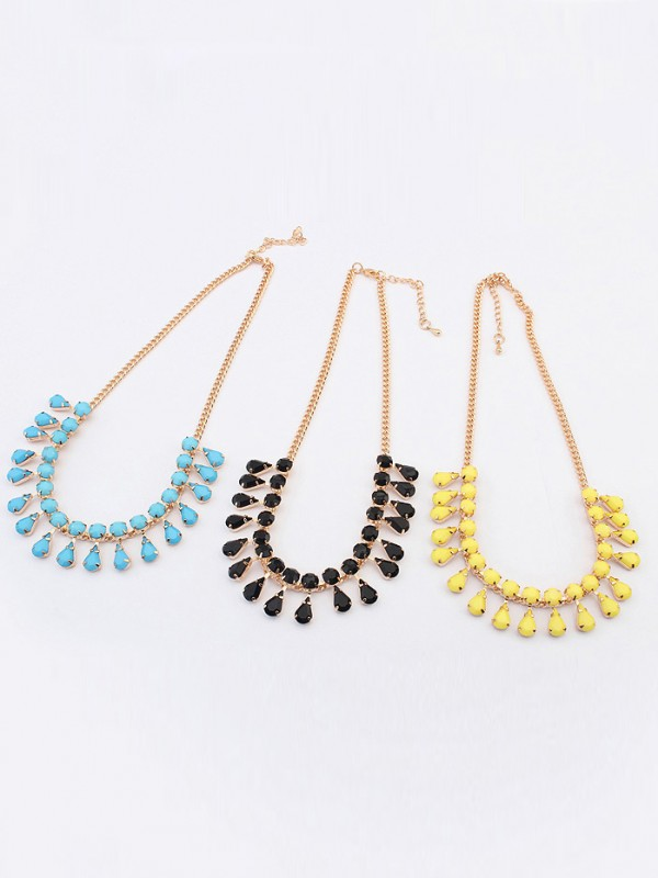 The Most Fashionable Occident all-match Water drop Temperament Hot Sale Necklace