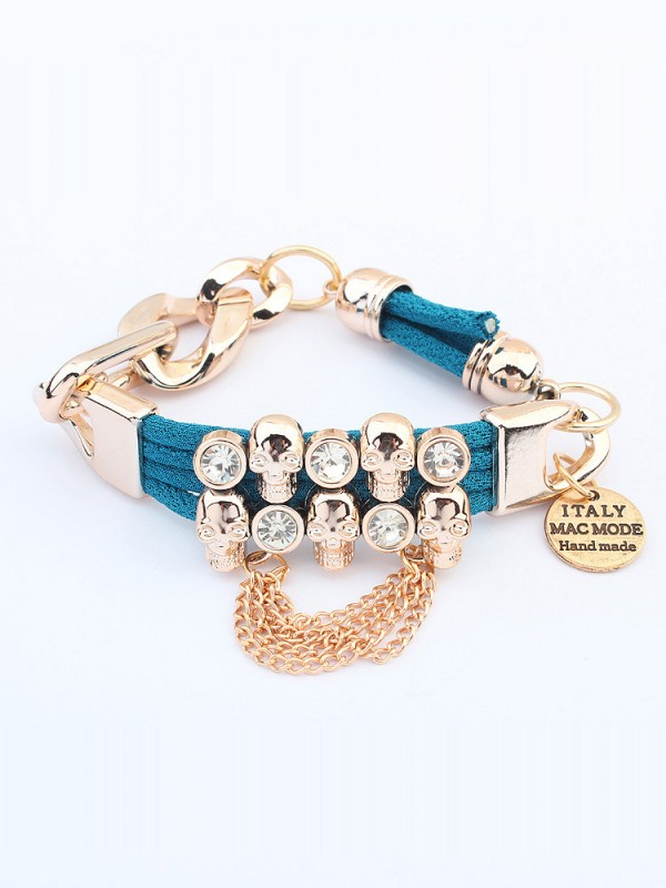 The Most Stylish Occident Punk Hyperbolic Skull Hot Sale Bracelets
