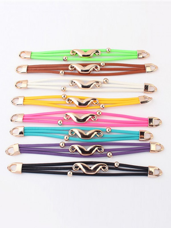 Fashion Trends Occident Fluorescent colors Major suit Mustache Hot Sale Bracelets