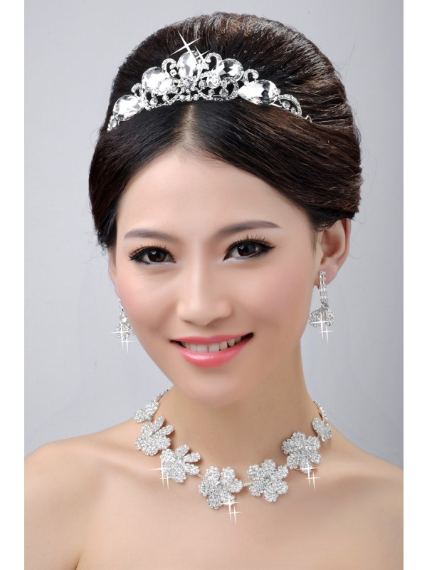 Gorgeous Stunning Wedding Headpieces Necklaces Earrings Set