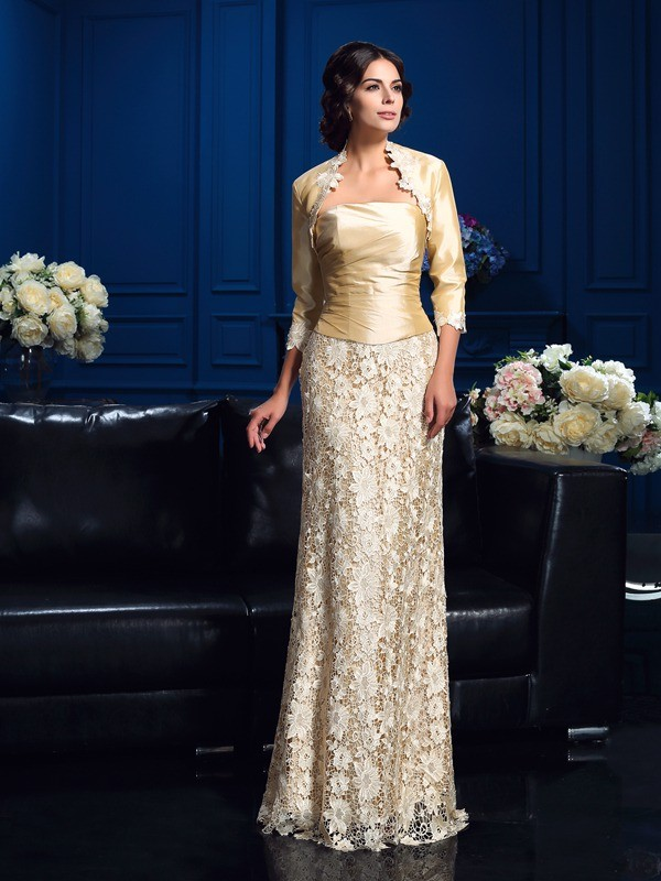 a23ce2faabc3 A-Line/Princess Strapless Lace Sleeveless Floor-Length Mother of the Bride  Dresses