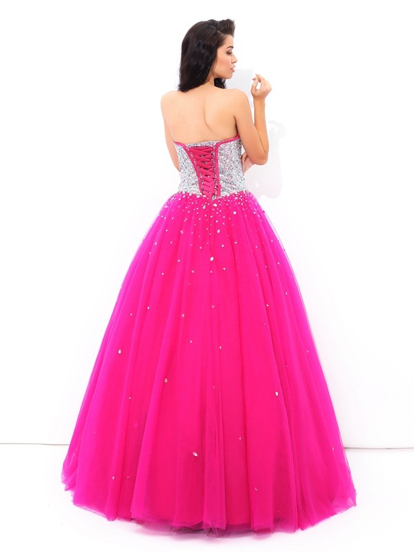 00e3743a707 Ball Gown Beading Sweetheart Sleeveless Long Satin Quinceanera Dresses -  Queenabelle