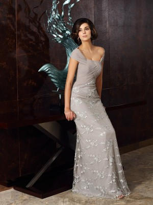 A-Line/Princess Off-the-Shoulder Chiffon Sleeveless Floor-Length Mother of the Bride Dresses