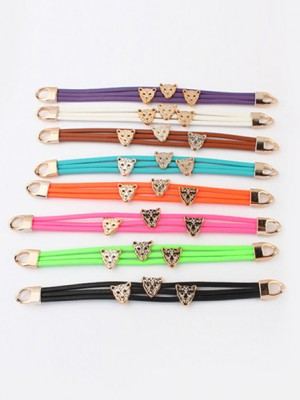 The Most Fashionable Occident Candy colors Summer All-match Leopard head Hot Sale Bracelets