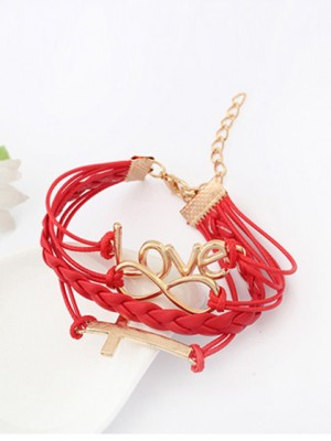 The Most Fashionable Korean version Romantic Password love Cross Hot Sale Bracelets