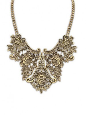 The Most Fashionable Occident Exotic Metallic flower pattern Hot Sale Necklace