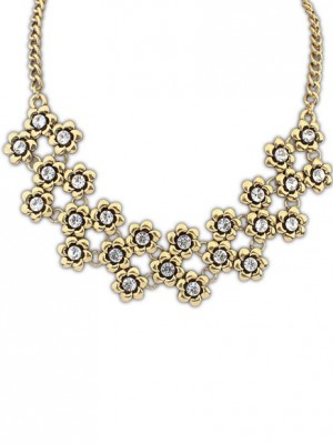 Fashion Trends Occident Retro Metallic Plum flower Hot Sale Necklace