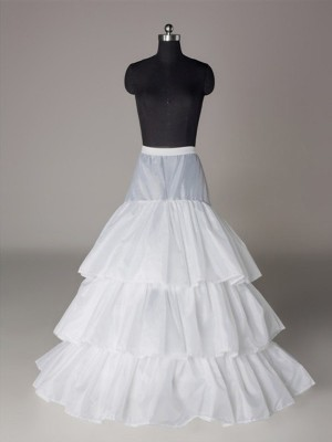 A-Line 3 Tier Floor Length Slip Nylon Style Wedding Petticoats