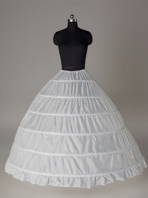 Ball Gown 1 Tier Floor Length Slip Nylon Style Wedding Petticoats