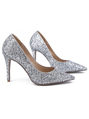 The Most Stylish Women's Sparkling Glitter Closed Toe Stiletto Heel High Heels
