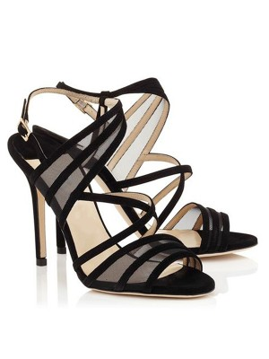 The Most Fashionable Women's Stiletto Heel Suede Peep Toe With Buckle Sandals Shoes