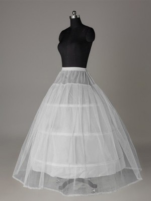 Ball Gown 2 Tier Floor Length Slip Tulle Netting Style Wedding Petticoats