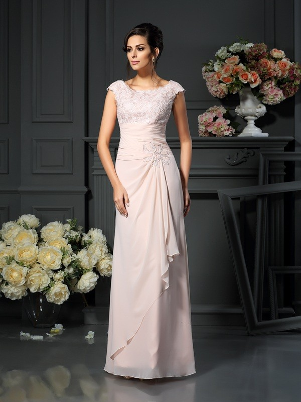 A-Line/Princess Scoop Chiffon Sleeveless Floor-Length Mother of the Bride Dresses