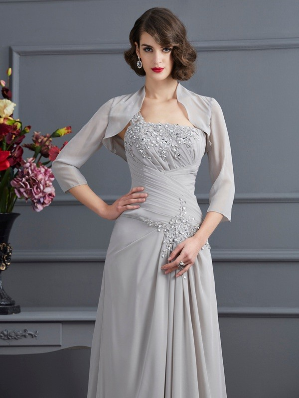 Stylish Chiffon Special Occasion 3/4 Sleeves Wrap