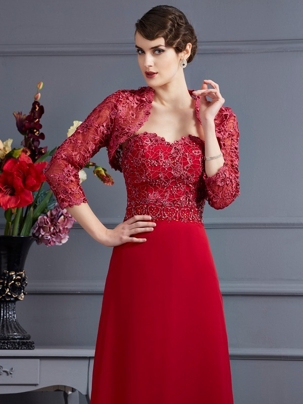 Fashion Net Applique 3/4 Sleeves Special Occasion Wrap