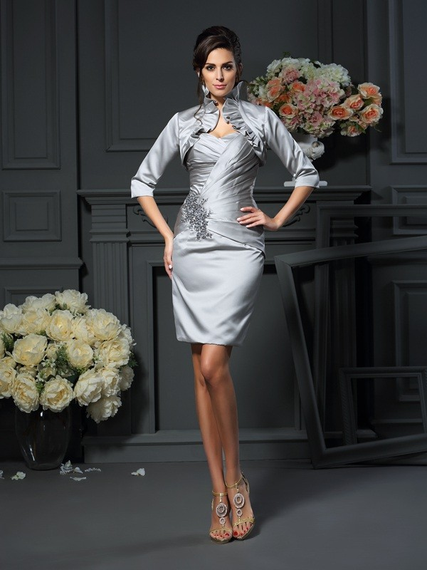 Stylish Satin Sleeves Special Occasion Half Wrap