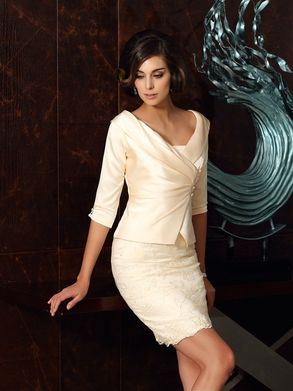 Fashion Half Sleeves Satin Special Occasion Wrap