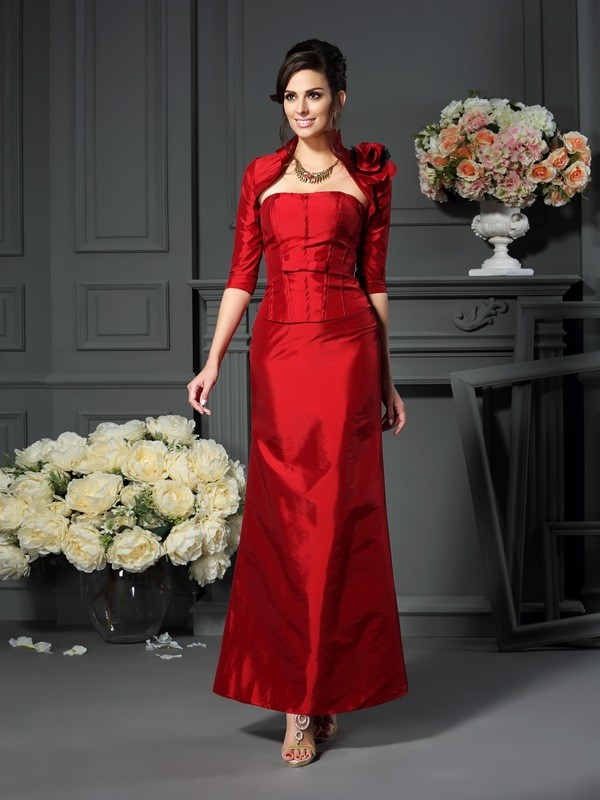 Stylish Taffeta Hand-Made Flower 1/2 Sleeves Special Occasion Wrap