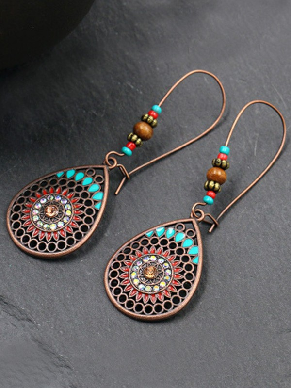 Unique Bohemia Style Alloy With Water Drop Earrings