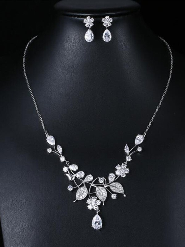Occident Zircon Fashion Wedding Bridal Jewelry Set
