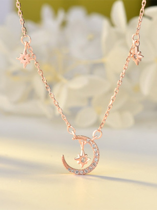Charming S925 Silver Ladies Necklaces
