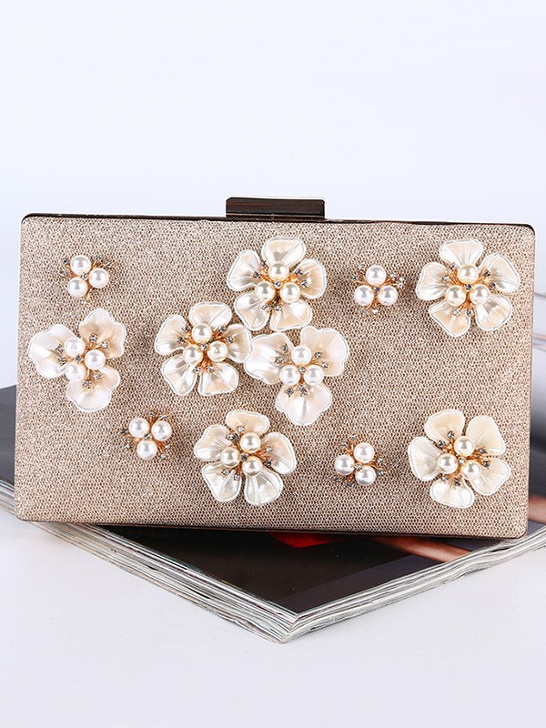Graceful Pearl Evening/Party Handbags With Flowers