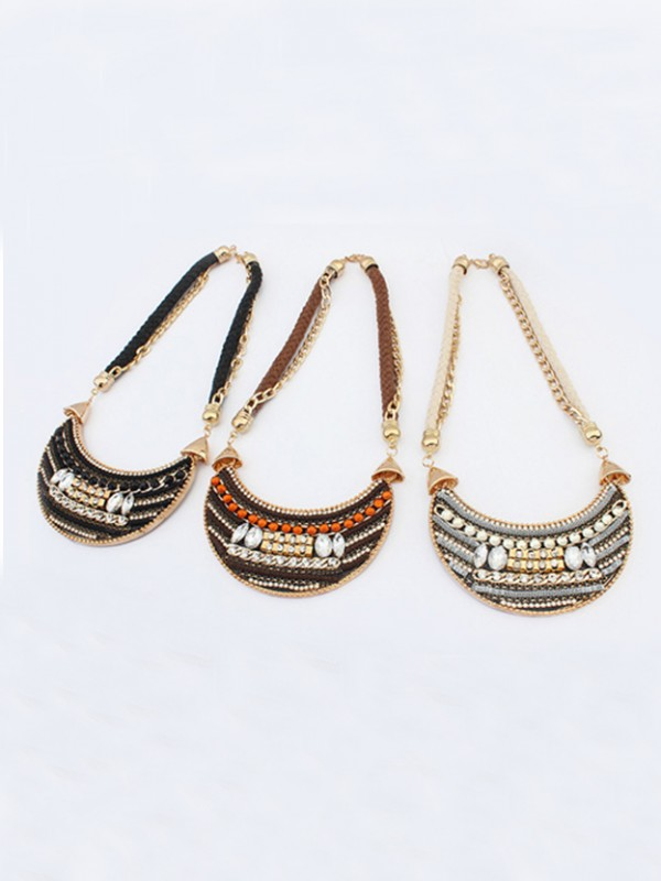 The Most Trendy Occident Exotic woven Retro Hot Sale Necklace