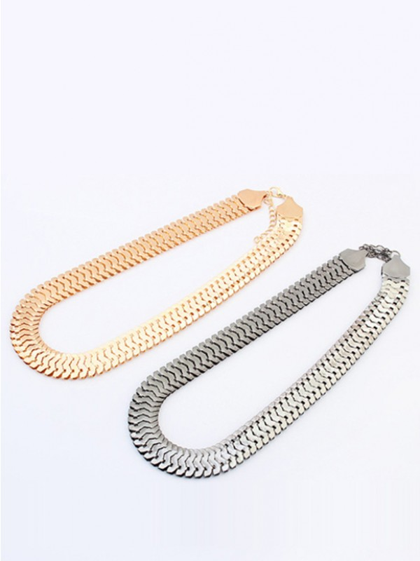 The Most Fashionable Occident Personality Metallic thick chains Short Hot Sale Necklace