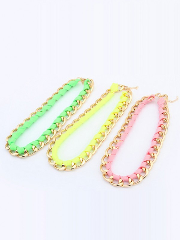 The Most Trendy Occident Major suit Fluorescent colors Hot Sale Necklace