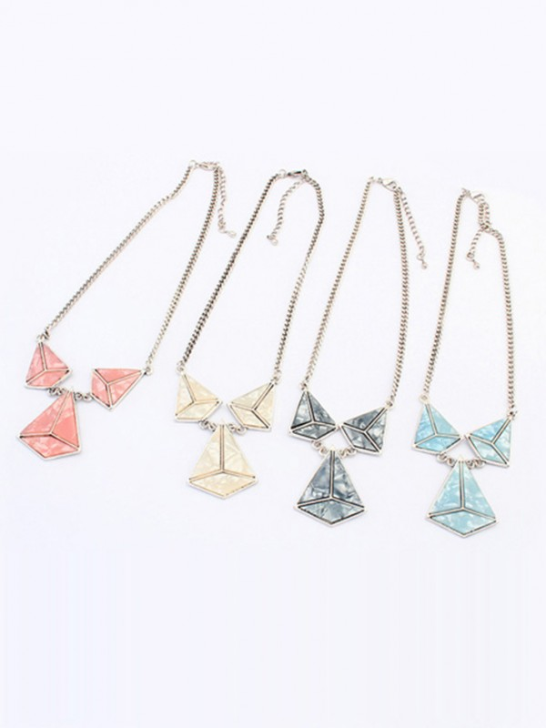 The Most Trendy Occident Retro Punk Hyperbolic Geometry Hot Sale Necklace