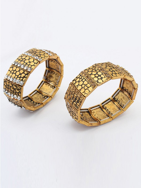 The Most Fashionable Occident Exotic Personality Wide version Elasticity Hot Sale Bracelet