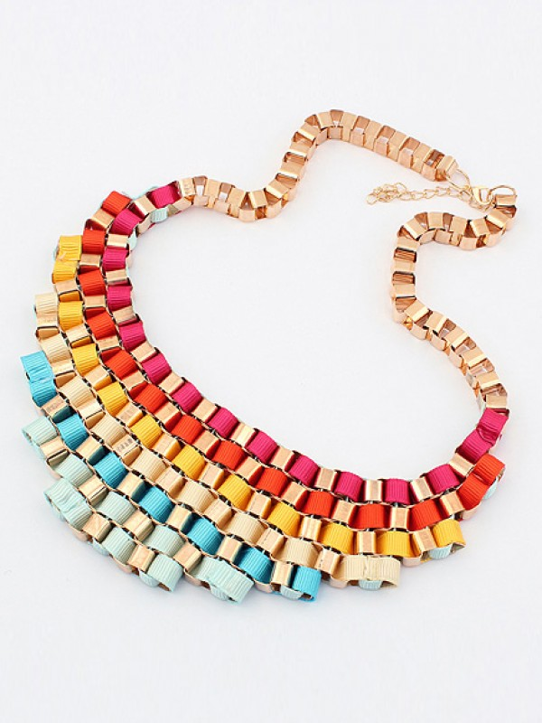 The Most Trendy Occident Hyperbolic Colorful Street shooting All-match Hot Sale Necklace