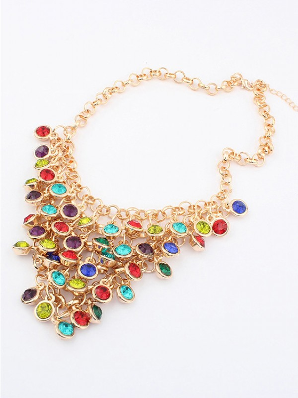The Most Trendy Korean version Colorful wafer curtain Hot Sale Necklace
