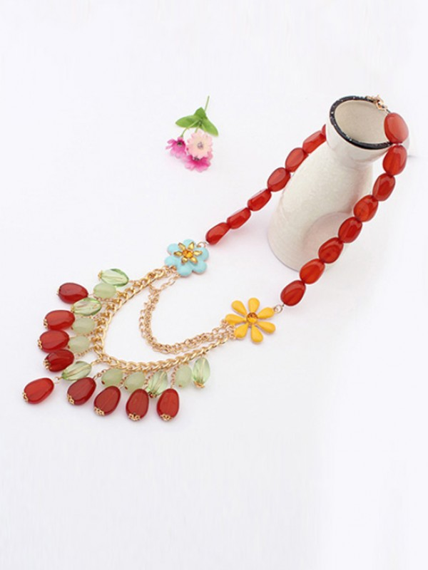 Fashion Trends Occident Beautiful woman Jade Hot Sale Necklace