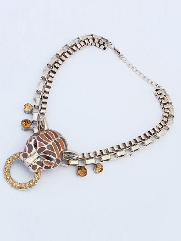 The Most Stylish Occident Personality Metallic Leopard Punk Hot Sale Necklace