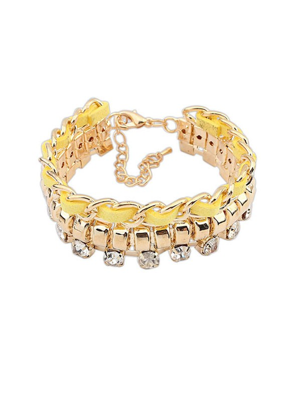 The Most Trendy Occident New Flash Drilling Woven Hot Sale Bracelets