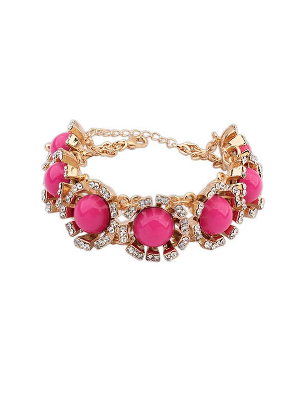 The Most Trendy Occident New Street Shooting Collision Color Hot Sale Bracelets