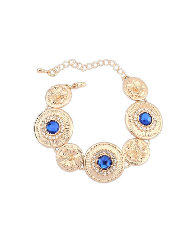 The Most Trendy Occident Popular Round Plate Hot Sale Bracelets