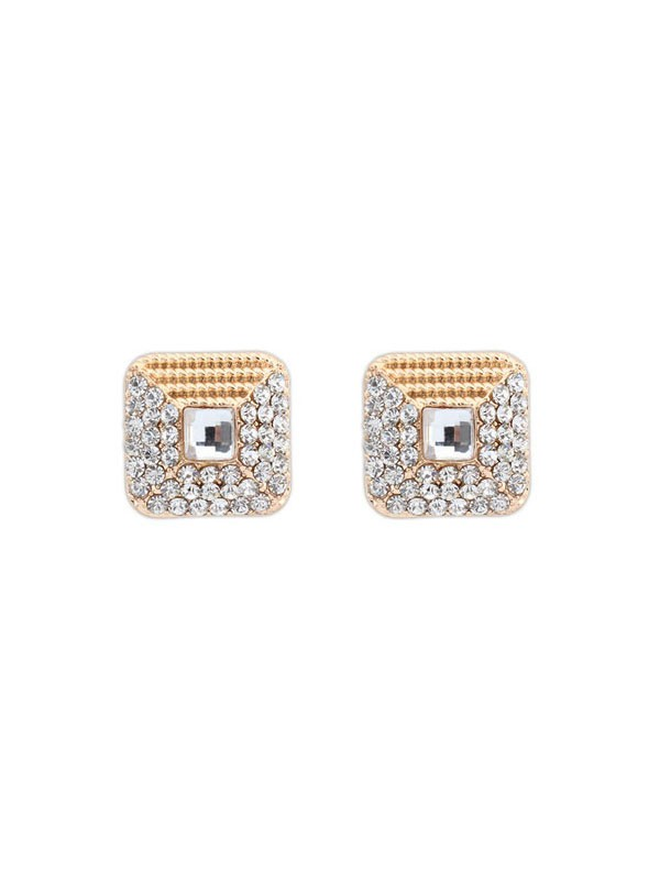 The Most Stylish Occident Exquisite Rhinestone Stud Hot Sale Earrings