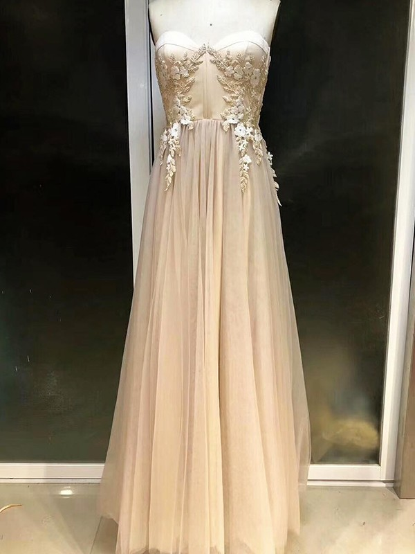 Empire Sweetheart Tulle Sleeveless Floor-Length Dresses