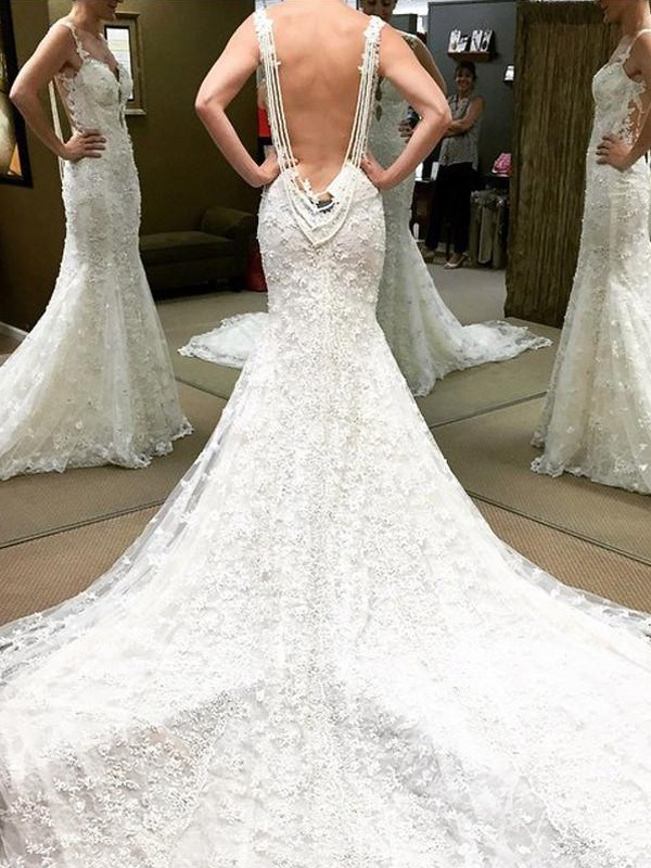 Ball Gown Off-the-Shoulder Lace Short Sleeves Cathedral Train Wedding Dresses