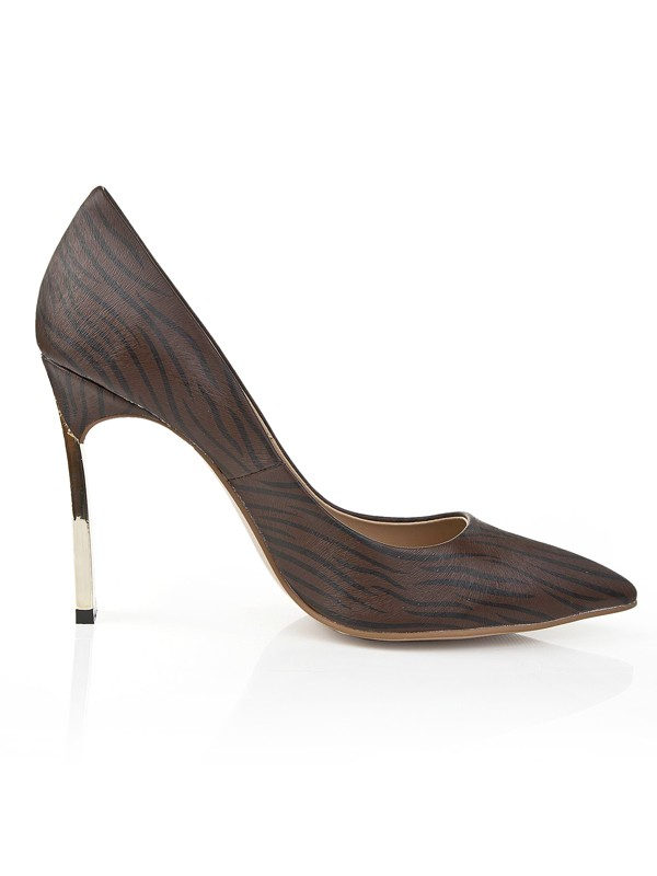 The Most Trendy Women's Stiletto Heel Closed Toe With Leopard Print Office High Heels