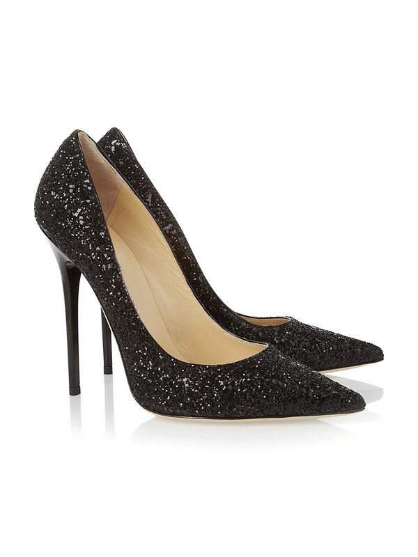 The Most Trendy Women's Closed Toe Stiletto Heel With Sequin Party & High Heels