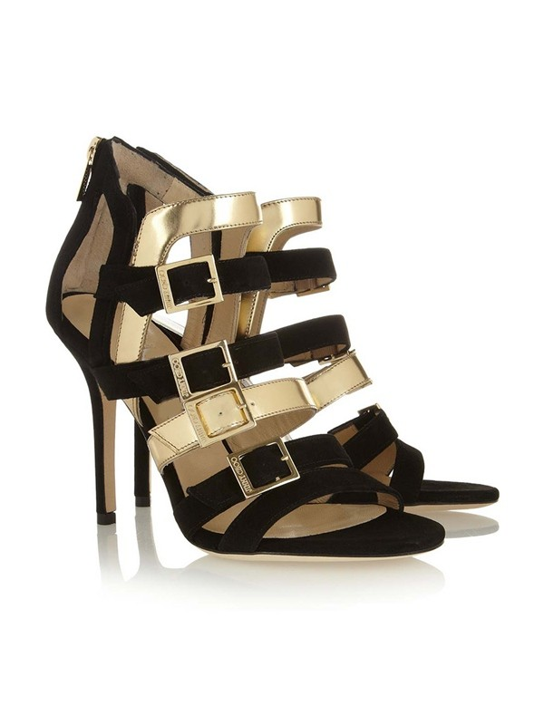 The Most Trendy Women's Peep Toe Suede Stiletto Heel With Buckle Sandals Shoes