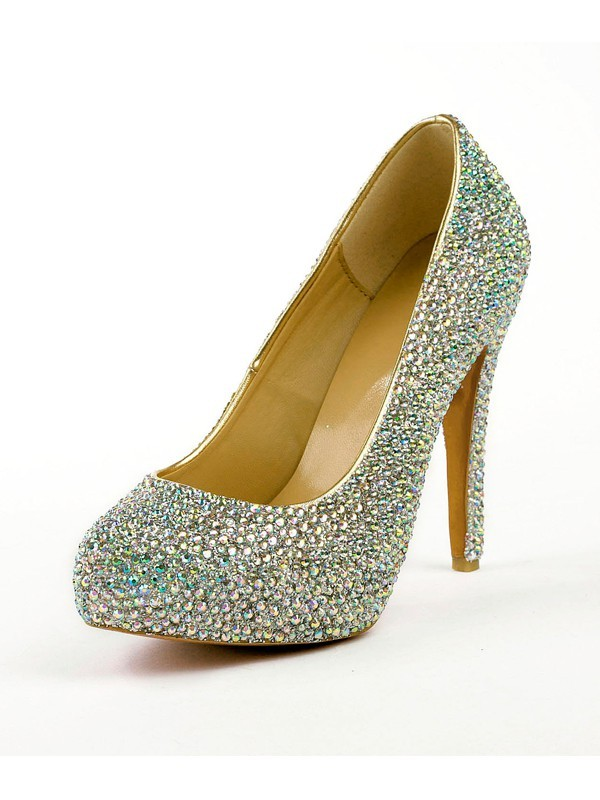 The Most Fashionable Women's Stiletto Heel High Heels With Rhinestones Platform Platforms Shoes